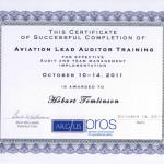 Aviation Lead Auditor Trainig Cert.   ARGUS-ALAT  KDEN   10-14Oct11