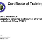 DPE-Recurrent-Training-Certificate