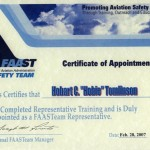 FAAST  Certificate.of Appointment